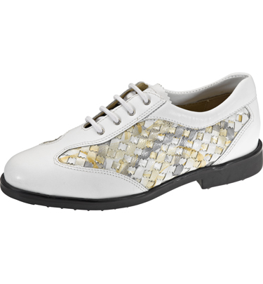 large discount delicate colors in stock Aerogreen Golf Shoes Hand Woven Leather White/Silver Women's Shoes ...